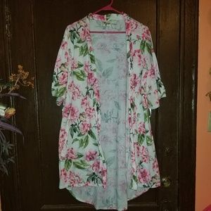 Show me your Mumu pink floral robe One Size EUC
